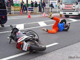 バイクで転倒! その原因と防止策を考えよう!