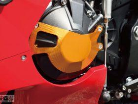 簡単装着でスタイリングを向上。心臓部の保護&華やかさを両立 BABYFACE「エンジンスライダー・フレームスライダー」